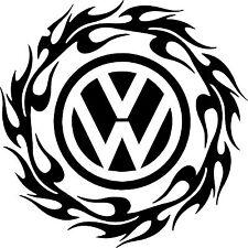 "VOLKSWAGEN VW Extra Large 17"" Logo Decal Stickers X2 TRANSPORTER T5 T4 Campervan"