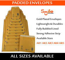 2000 X Lite Padded Envelopes Bubble Mail Bags 110x165 Mm Ar1 A/000 Gold Colour