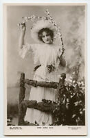 c 1907 Edwardian British Actress EDNA MAY Pretty Fashion theater photo postcard