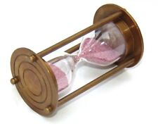 Nautical Antique Brass Collectible Pocket Sand Timer A Beautiful Gift for Decor