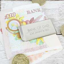 Personalised Engraved Classic Money Clip Gift for Men Fathers Day Birthday