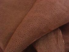 Confection 1900 : coupon d'organdi marron roux à pois écrus