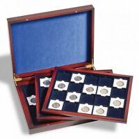 Coffret numismatique VolterraTrio pour 60 capsules Quadrum ou étuis carton 50×50