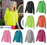 J. America - Ladies' Sueded V-Neck Hooded Sweatshirt - 8836