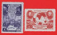 1950 Russia USSR Discover of Antarctica MNH** Z 1476-7 Sc 1508-1509 Mi 1513-1514