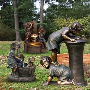 Garden Kissing Kids Ornaments Outdoor Decor Boy and Girl Statue Sculpture