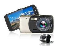 "For Car HD 1080P Dual Lens Dash Camera 4"" DVR Video Recorder Free 16GB Micro SD"