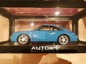 1:18 Autoart 78133 Porsche 911 993 Carrera 1995 Blue Metallic