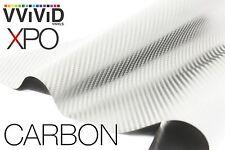 XPO White Carbon Fiber 5' x 5' Vvivid Vinyl Film Wrap Roll Sheet Decal Sticker