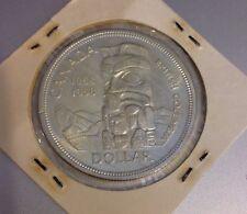 1858-1958 BRITISH COLUMBIA TOTEM POLE CANADA DOLLAR SILVER COIN