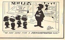 "Tony Specter Original Strip Art ~ Kid with Car Gag 1 panel (5 x 10"") WH"