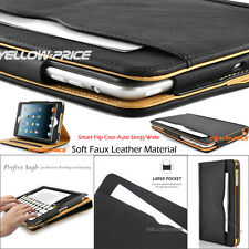For iPad Mini 1 2 3 New Pouch Wallet Soft Leather Case Smart Cover Stand Skin