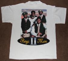 Boyz II Men 1995 All Around The World Tour Concert White Shirt Men S-4XL P1605