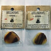 3x NOS Vintage Celluloid Picks 1920's-1940's Tortoise Shell Guitar Mandolin