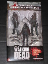 Walking Dead Exclusive Black & White Bloody Michonne W/ Pets Figures Mcfarlane