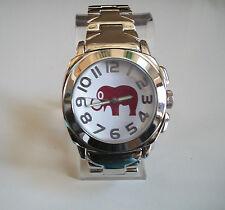 Elephant Good Luck Charm  bracelet Silver finish  fashion watch