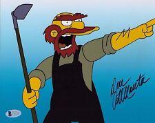 DAN CASTELLANETA Signed Autographed 8x10 Photo The Simpsons Willie Beckett BAS