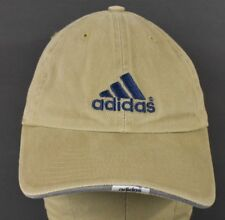 Beige Adidas Design Company Logo Embroidered Baseball Hat Cap Adjustable Strap