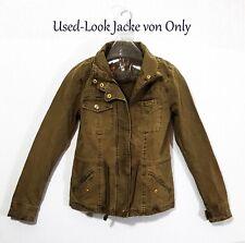 ONLY Damen Jacke Parka Jacket Jeansjacke Damen Blazer XS 32 34 Millitary olivK14