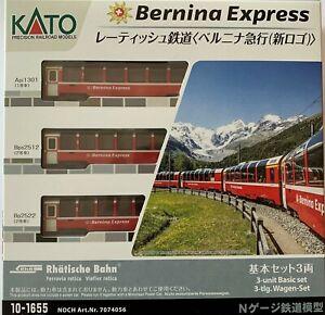 "Noch 7074056/  Kato 10-1655  Spur N Rhätische Bahn ""Bernina Express #Neu in OVP#"