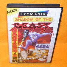 VINTAGE 1991 SEGA MASTER SYSTEM SHADOW OF THE BEAST ARCADE CARTRIDGE VIDEO GAME