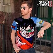 Dragon Ball Z Goku Fashion Sublimated Print O-Neck Tops Unisex T-Shirt