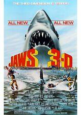 Jaws 3D - Dennis Quaid - A4 Laminated Mini Movie Poster