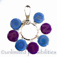 OROTON Transcendent Enamel Charm Key FOB Lilac Purple Berry New with Tags