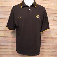 Missouri Tigers Nike Men's Polo Shirt Short Sleeve Cotton Black size L