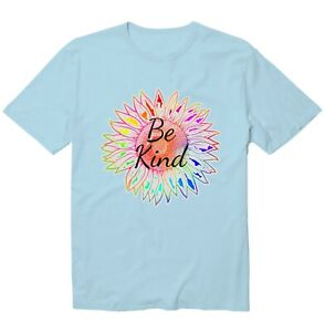 Tie Dye Sunflower Be Kind Unisex Kid Youth Graphic T-Shirt