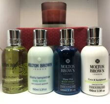 Molton Brown Lotion Wash Collection Gift Set Different Fragrance 4x 100ml Candle