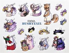 "Emma Bushytail Squirrel Paper Doll Post Card Large 7x6"" Rare! Mint Shackman"