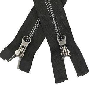 5Pcs Two Way Open End Zip Zipper Heavy Duty Metal Teeth for Jacket Leather Coat