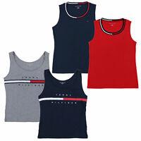 Tommy Hilfiger Womens Tank Top Shirt Sleeveless Cotton Flag Logo Crew Neck New