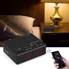 Wireless FM Radio Sveglia Bluetooth Funzione Vivavoce TF USB Hands-Free Chiama