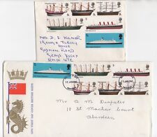 1969 GB QEII - 2 x First Day Covers BRITISH SHIPS SG778 to SG783 Aberdeen Grays