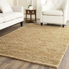 Large Floor Rug Carpet Nat Beige Modern Designer Hemp 220 x 150 FREE DELIVERY
