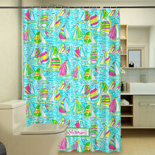 Lilly Pulitzer Octopus Coral New Shower Curtain 48-72 x 72 Inch Free Rings
