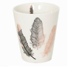 Tasse expresso en porcelaine Plumes thème Indien