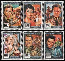 Mali 1994 - Mi-Nr. 1238-1243 A ** - MNH - Kino - M. Monroe - E. Presley