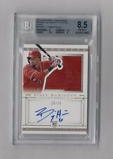 BILLY HAMILTON 2014 NATIONAL TREASURES PATCH AUTO RC #25/25 BGS 8.5 10 ANGELS