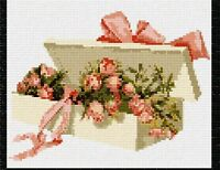 Box Rose Buds Needlepoint Kit or Canvas (Floral/Flower/Nature)