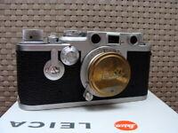 "Leitz Wetzlar - Leica IIIf Kit Elmar 1:3.5/5cm ""red dial/ red scale"" - RAR!"