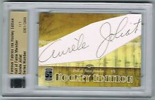 2010 FAMOUS FABRICS INK HOCKEY HALL OF FAME CUT AUTOGRAPH AURELE JOLIAT 1/1 !!