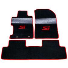 Fits 06-11 Honda Civic FA FD Nylon Floor Mats Carpets w/ Grey Strip & Red SI