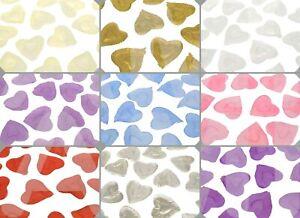 100pc Silk Satin Heart Shaped Petals Wedding Confetti Table Decor Valentines Day