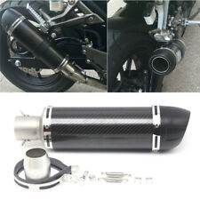 Universal Carbon Fiber Motorcycle Clamp-On Exhaust Muffler Pipe w/ DB Killer NEW