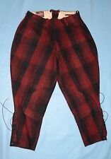 "Vintage Drybak Hunting Pants - Red & Black Plaid - 32"" Waist - Penn-Rich"