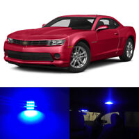 4 x Blue LED Interior Bulbs License Plate Light for 2010-2018 2019 Chevy Camaro