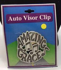 Amazing Grace Pewter Inspirational Car Sun Visor Clip New